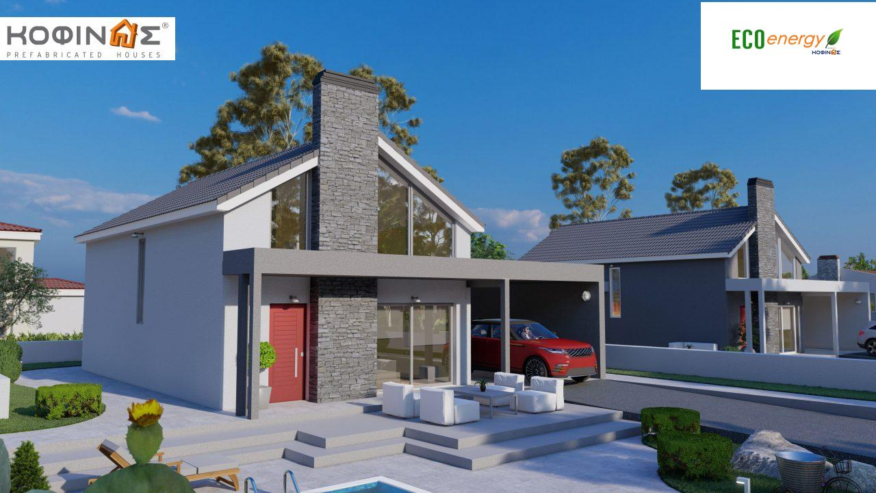 1-story house with attic IS-123, total surface of 123,25 m², +Garage 27. 08 m²(=150.33 m²),roofed areas 10,50 m²4