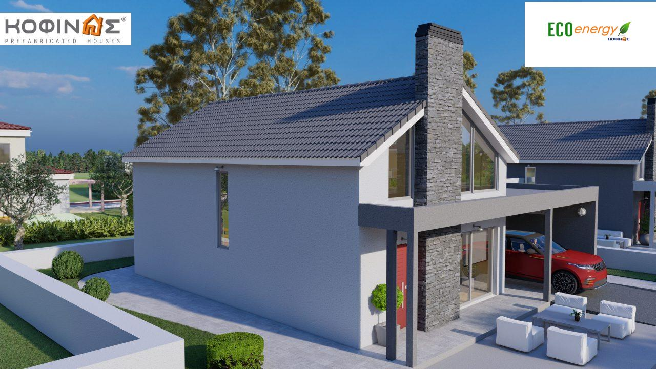 1-story house with attic IS-123, total surface of 123,25 m², +Garage 27. 08 m²(=150.33 m²),roofed areas 10,50 m²5