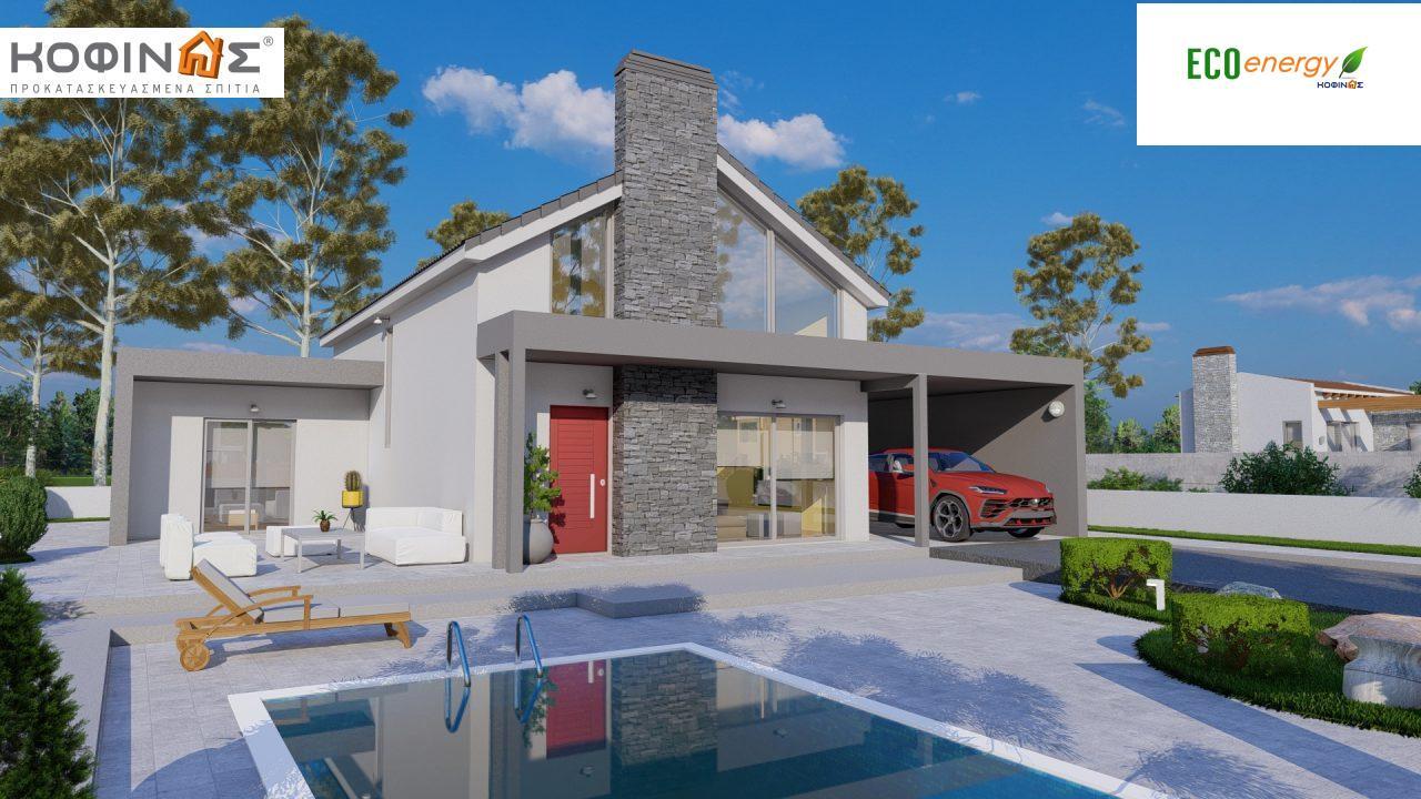 Ισόγεια Κατοικία με Σοφίτα IS-141, συνολικής επιφάνειας 141,95 τ.μ. , +Γκαράζ 27.08 m²(=169.03 m²),συνολική επιφάνεια στεγασμένων χώρων 15.91 τ.μ. featured image