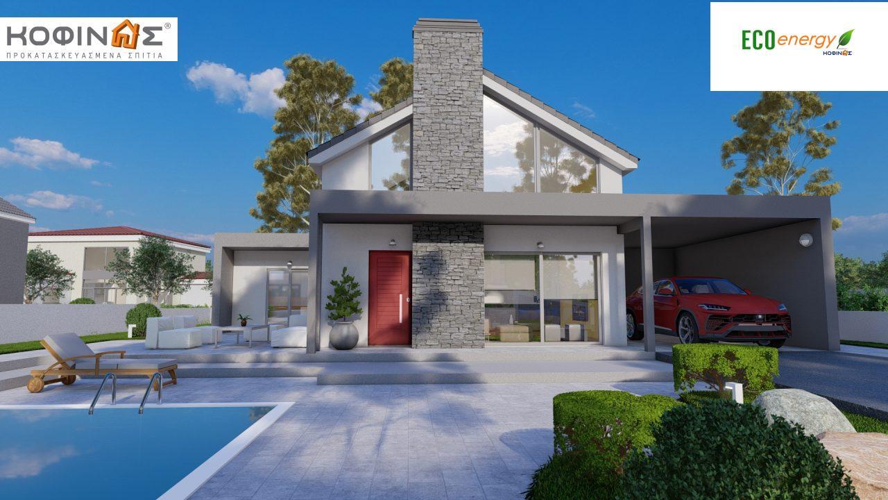 Ισόγεια Κατοικία με Σοφίτα IS-141, συνολικής επιφάνειας 141,95 τ.μ. , +Γκαράζ 27.08 m²(=169.03 m²),συνολική επιφάνεια στεγασμένων χώρων 15.91 τ.μ.1
