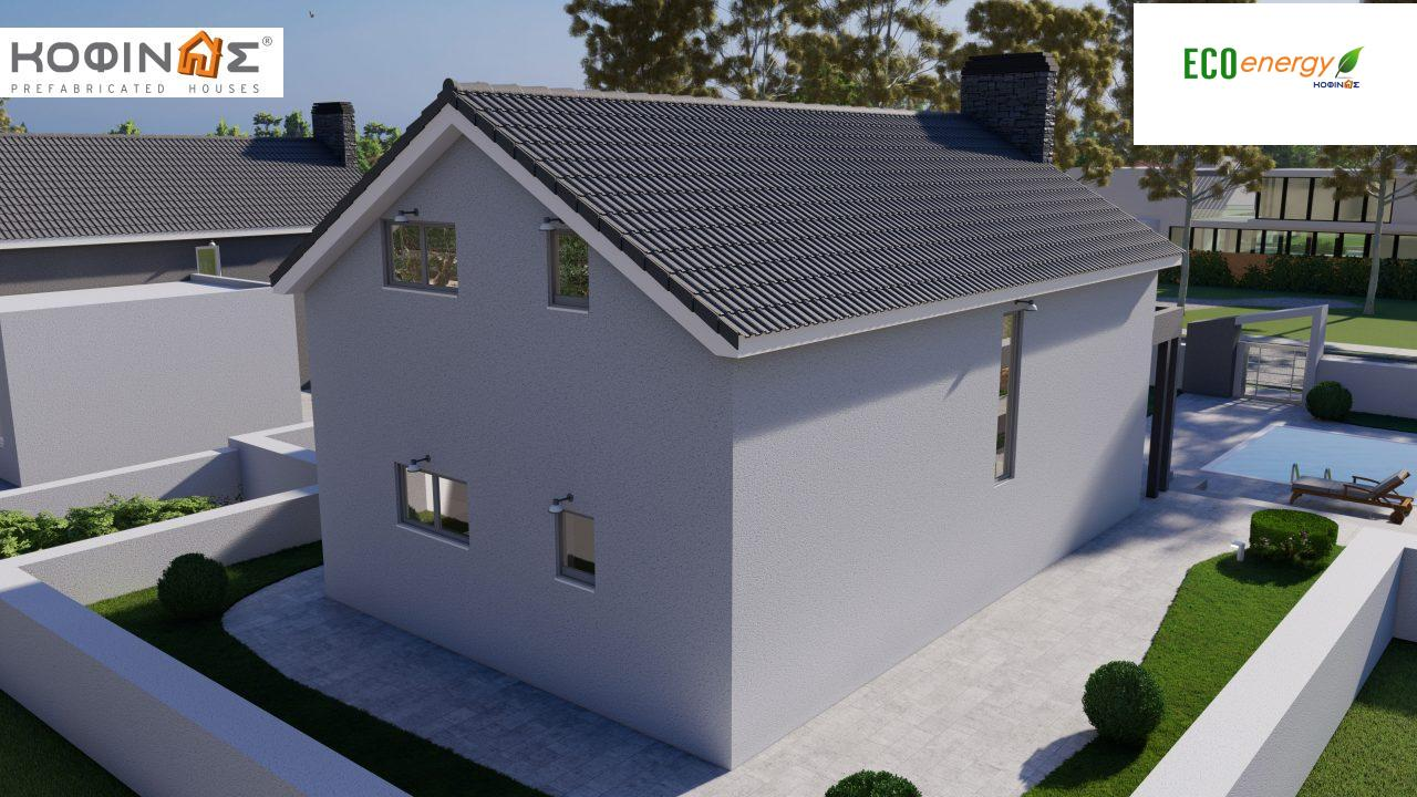 1-story house with attic IS-123, total surface of 123,25 m², +Garage 27. 08 m²(=150.33 m²),roofed areas 10,50 m²6