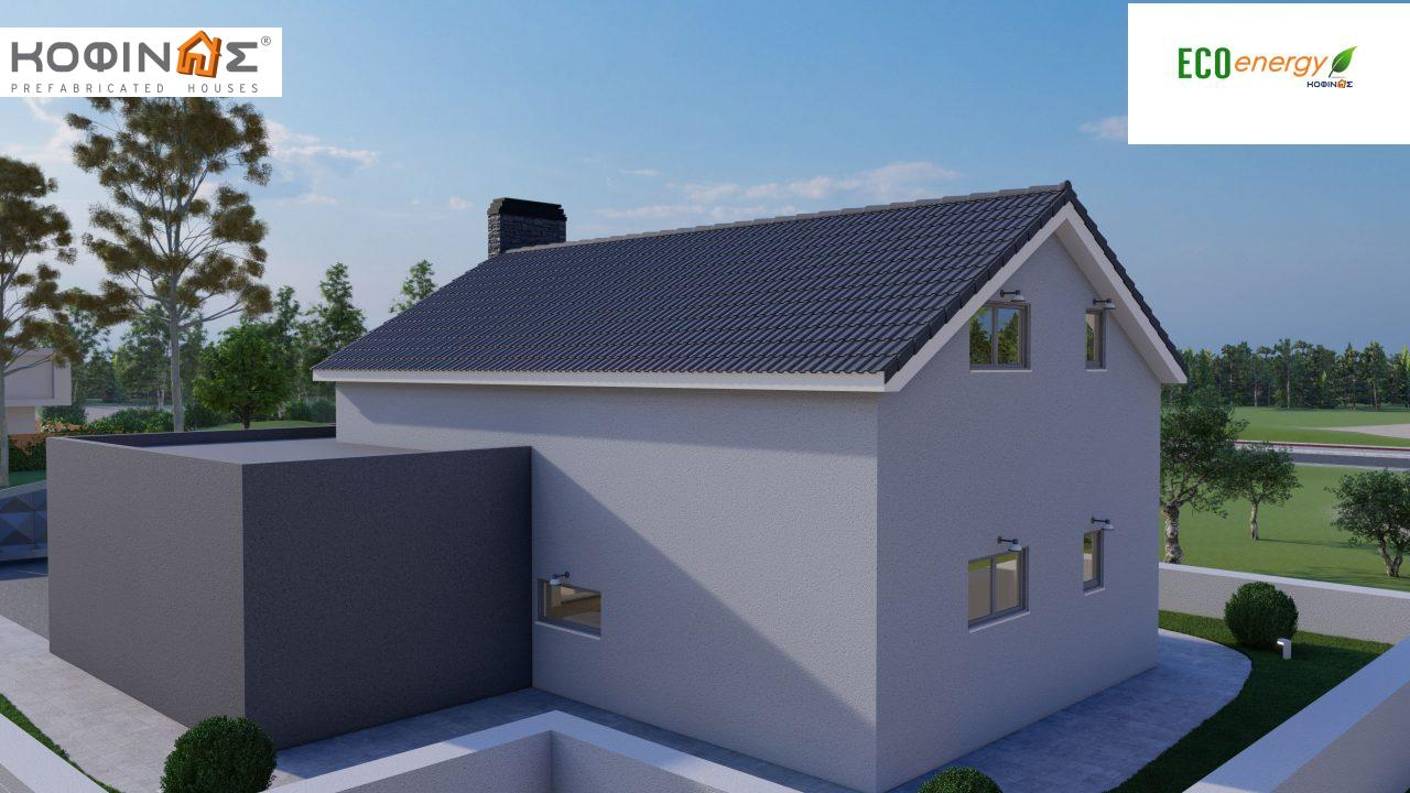 1-story house with attic IS-123, total surface of 123,25 m², +Garage 27. 08 m²(=150.33 m²),roofed areas 10,50 m²7