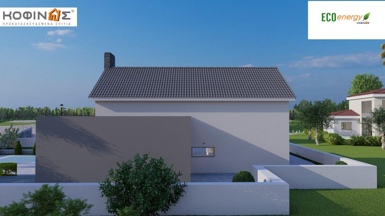 Ισόγεια Κατοικία με Σοφίτα IS-141, συνολικής επιφάνειας 141,95 τ.μ. , +Γκαράζ 27.08 m²(=169.03 m²),συνολική επιφάνεια στεγασμένων χώρων 15.91 τ.μ.3