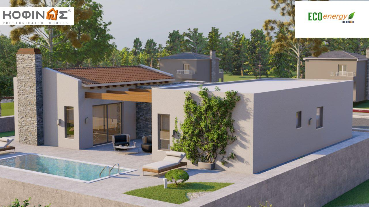 1-story house I-134, total surface of 134.28 m², roofed areas 29.60 m²3
