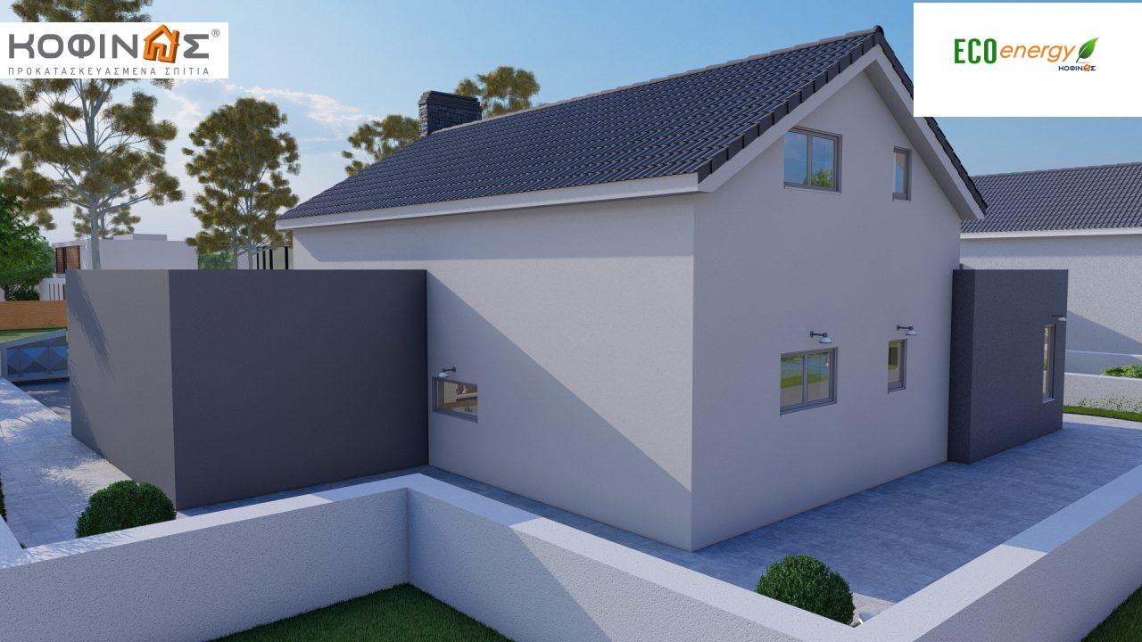 Ισόγεια Κατοικία με Σοφίτα IS-141, συνολικής επιφάνειας 141,95 τ.μ. , +Γκαράζ 27.08 m²(=169.03 m²),συνολική επιφάνεια στεγασμένων χώρων 15.91 τ.μ.5