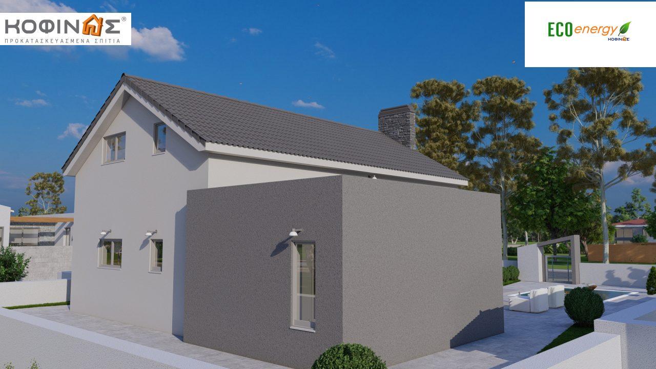 Ισόγεια Κατοικία με Σοφίτα IS-141, συνολικής επιφάνειας 141,95 τ.μ. , +Γκαράζ 27.08 m²(=169.03 m²),συνολική επιφάνεια στεγασμένων χώρων 15.91 τ.μ.4