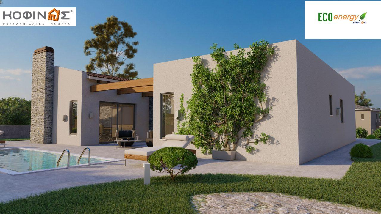 1-story house I-134, total surface of 134.28 m², roofed areas 29.60 m²1