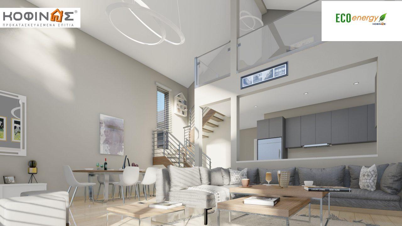 Ισόγεια Κατοικία με Σοφίτα IS-141, συνολικής επιφάνειας 141,95 τ.μ. , +Γκαράζ 27.08 m²(=169.03 m²),συνολική επιφάνεια στεγασμένων χώρων 15.91 τ.μ.8