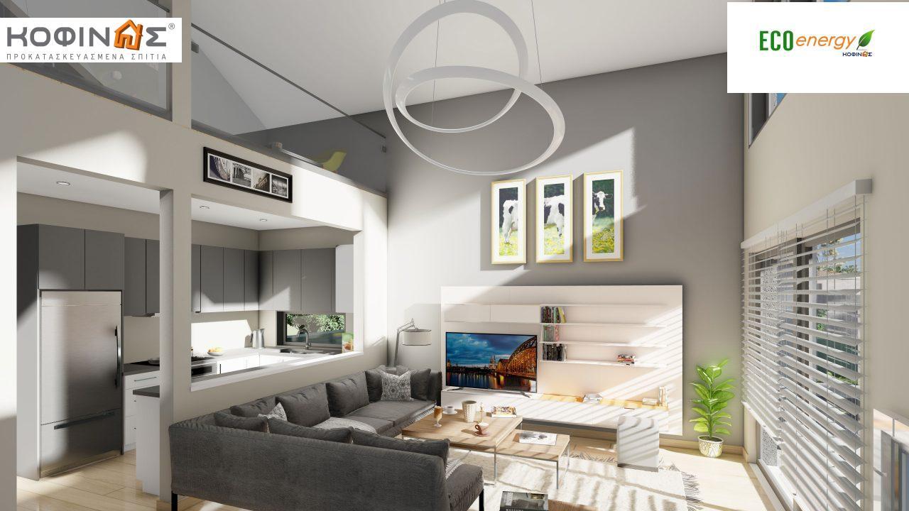 Ισόγεια Κατοικία με Σοφίτα IS-141, συνολικής επιφάνειας 141,95 τ.μ. , +Γκαράζ 27.08 m²(=169.03 m²),συνολική επιφάνεια στεγασμένων χώρων 15.91 τ.μ.9