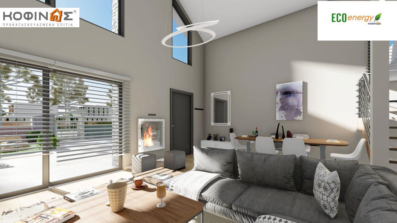 Ισόγεια Κατοικία με Σοφίτα IS-141, συνολικής επιφάνειας 141,95 τ.μ. , +Γκαράζ 27.08 m²(=169.03 m²),συνολική επιφάνεια στεγασμένων χώρων 15.91 τ.μ.10