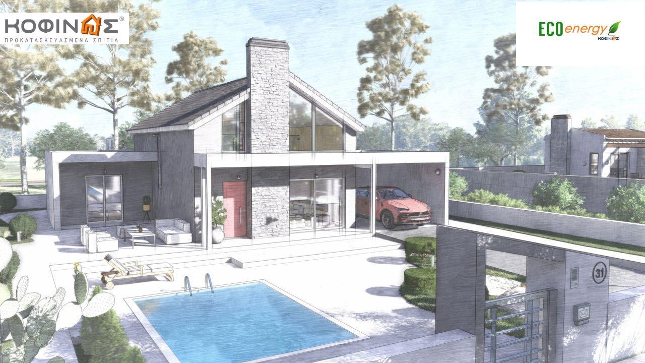 Ισόγεια Κατοικία με Σοφίτα IS-141, συνολικής επιφάνειας 141,95 τ.μ. , +Γκαράζ 27.08 m²(=169.03 m²),συνολική επιφάνεια στεγασμένων χώρων 15.91 τ.μ.7