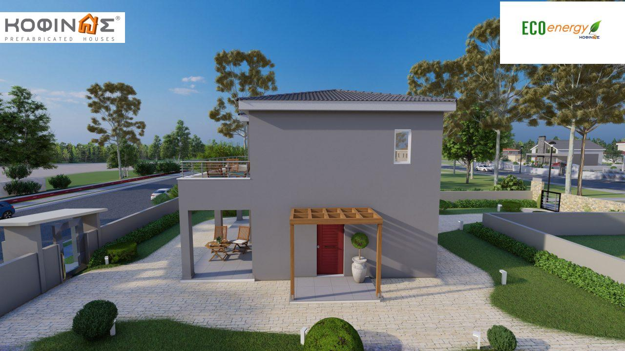 2-story house D-115, total surface of 115,58 m²,roofed areas 24,33 m²,balconies 20,14 m²1