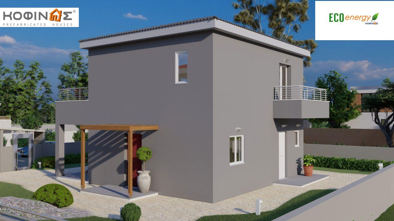 2-story house D-115, total surface of 115,58 m²,roofed areas 24,33 m²,balconies 20,14 m²2