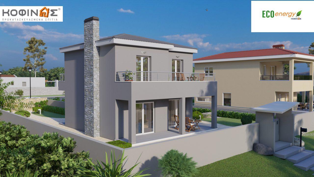 Διώροφη κατοικία D-115, συνολικής επιφάνειας 115,58, συνολική επιφάνεια στεγασμένων χώρων 24,33 τ.μ., μπαλκόνια 20,14 τ.μ.2