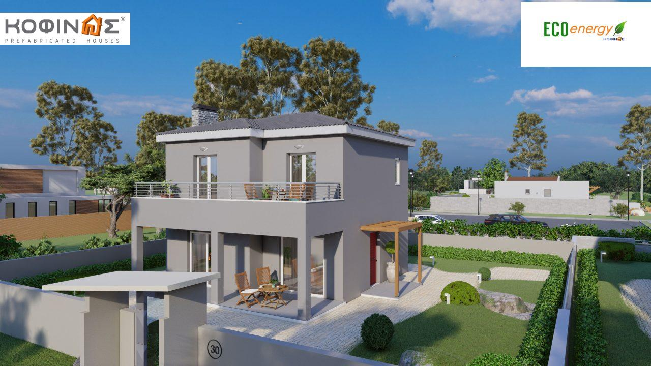 2-story house D-115, total surface of 115,58 m²,roofed areas 24,33 m²,balconies 20,14 m²0