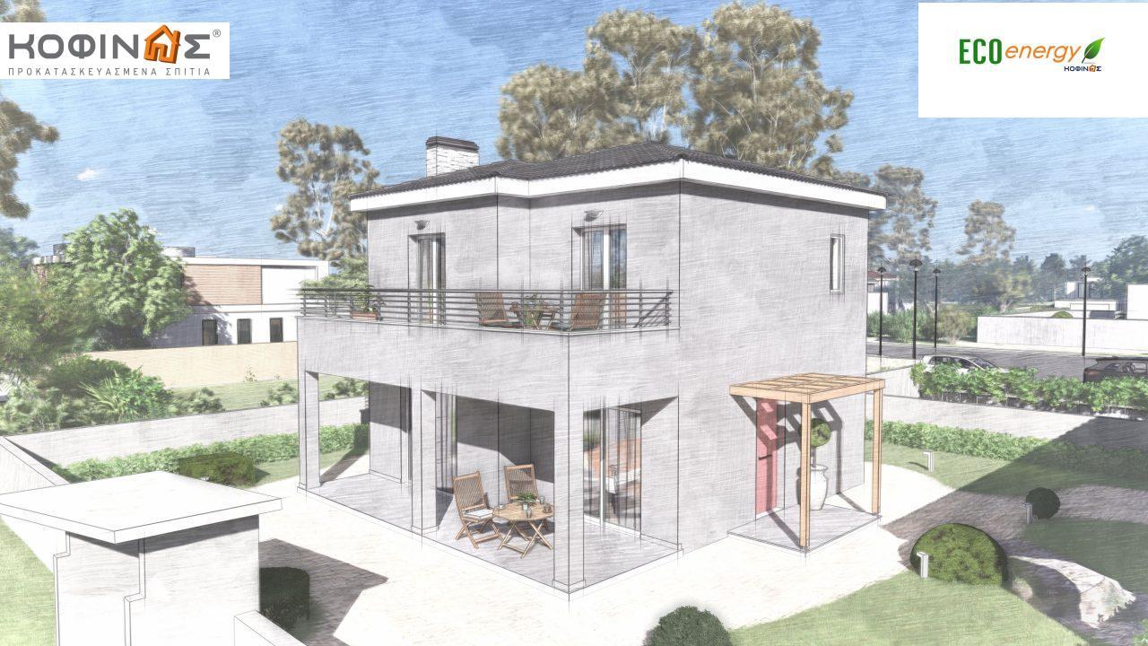 Διώροφη κατοικία D-115, συνολικής επιφάνειας 115,58, συνολική επιφάνεια στεγασμένων χώρων 24,33 τ.μ., μπαλκόνια 20,14 τ.μ.4
