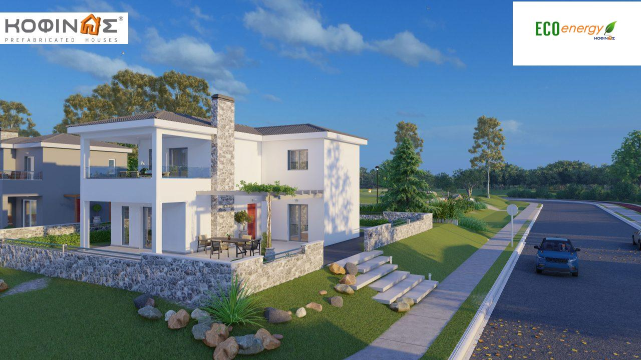 2-story house D-149, total surface of 149,13 m²,roofed areas 36.47 m²,balconies 19.22 m²8