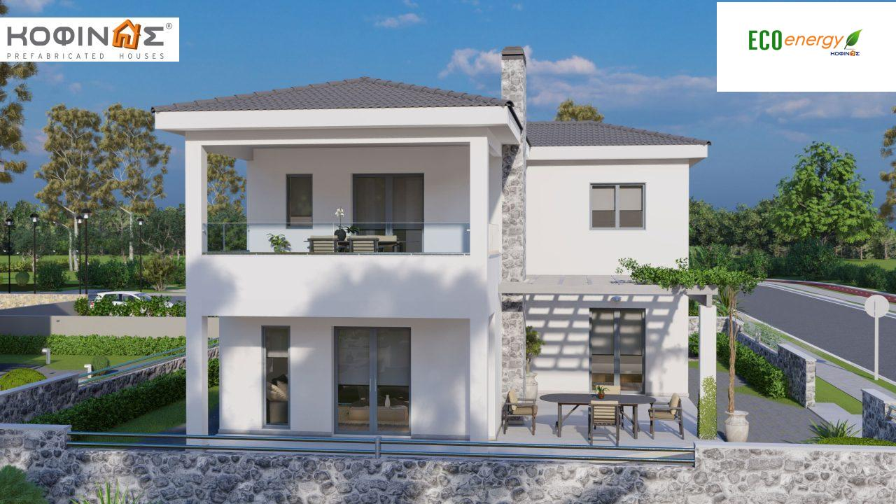 2-story house D-149, total surface of 149,13 m²,roofed areas 36.47 m²,balconies 19.22 m²2