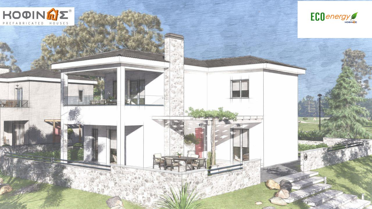 2-story house D-149, total surface of 149,13 m²,roofed areas 36.47 m²,balconies 19.22 m²11