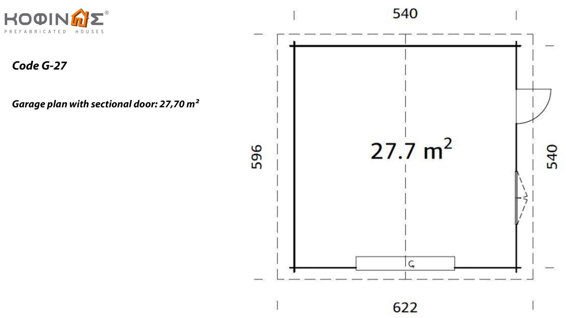 Garage G-27, total area 27.70 m²