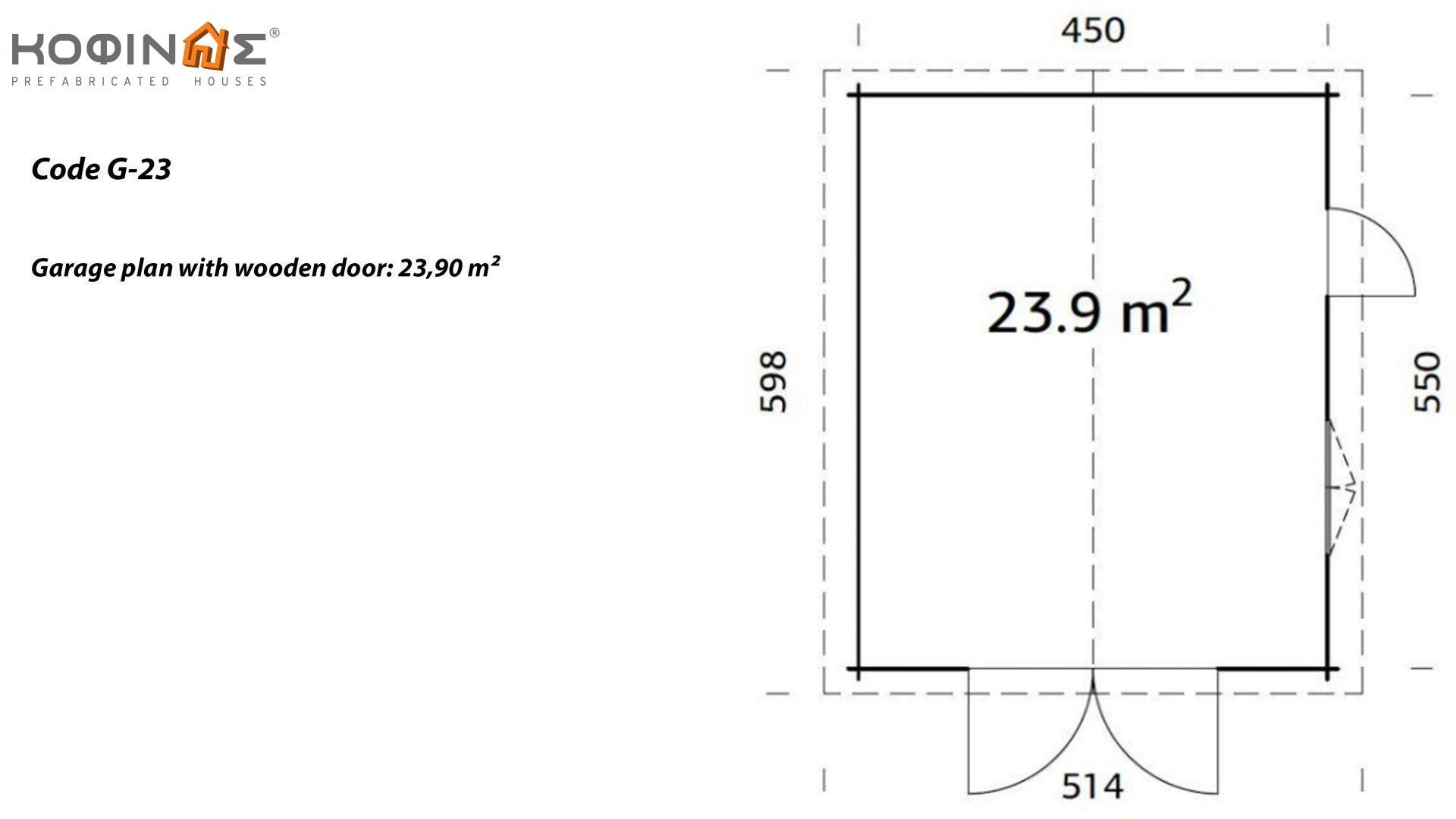 Garage G-23, total area 23.90 m²