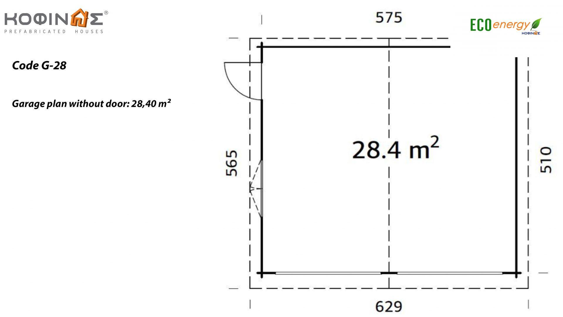 Garage G-28, total area 28.40 m²