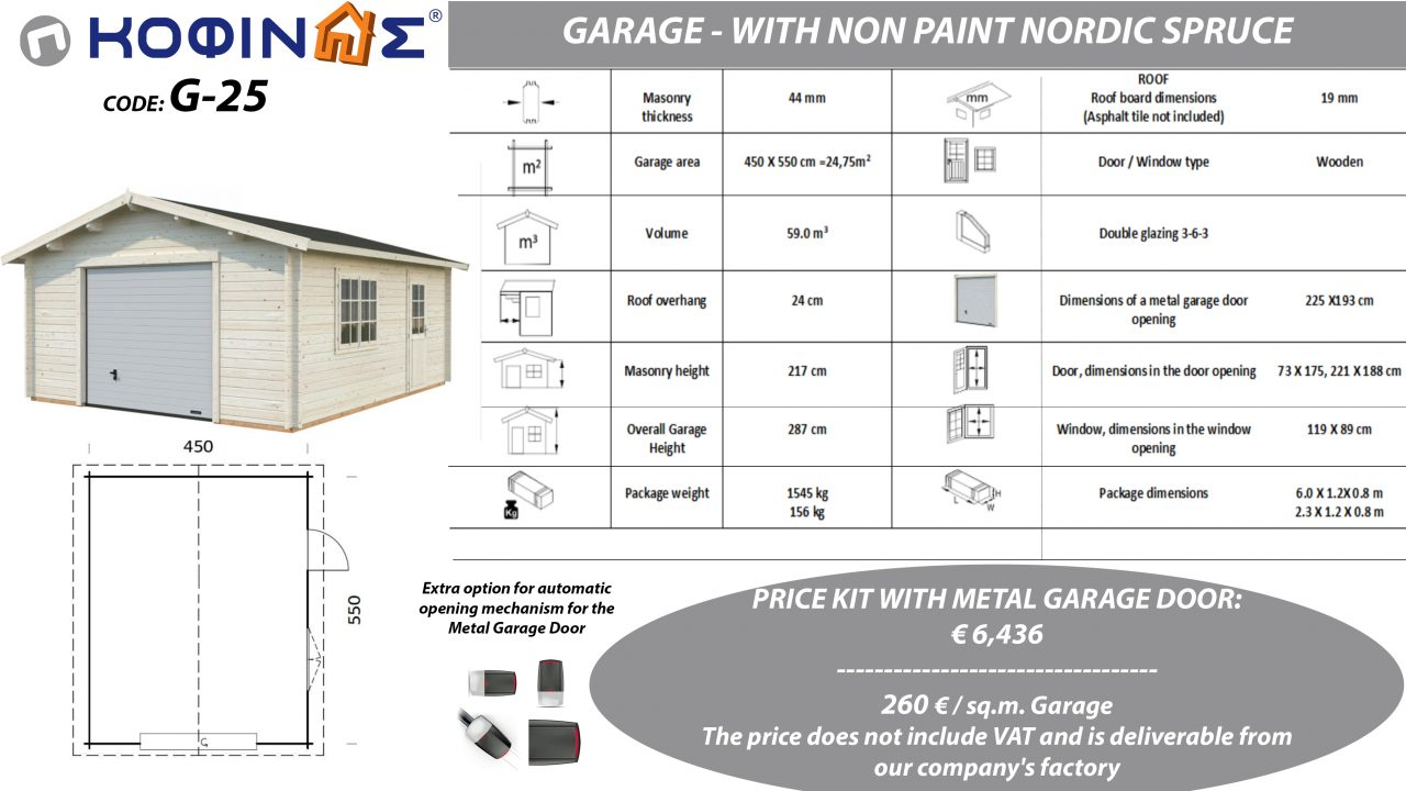 Garage G-25, total area 24.75 sq.m.0