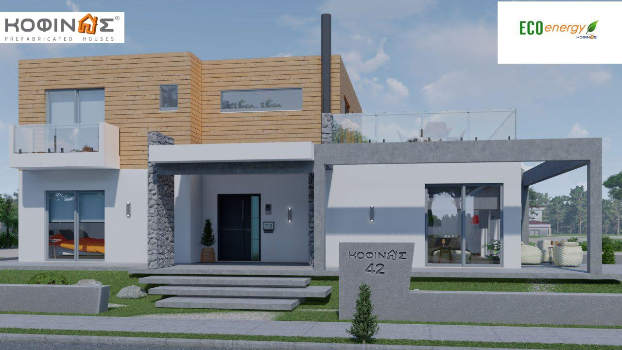 2-story house D-188, total surface of 188,66 m² ,roofed areas 38.20 m²,balconies 40.05 m² featured image