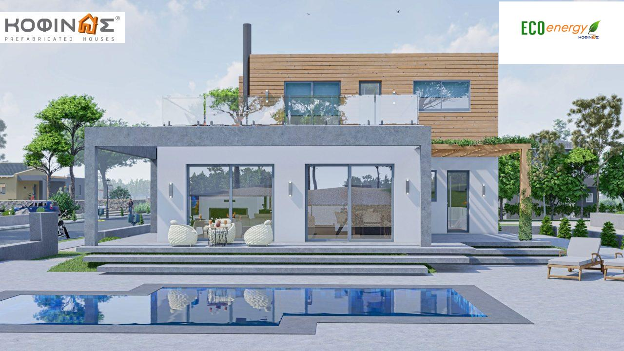 2-story house D-188, total surface of 188,66 m² ,roofed areas 38.20 m²,balconies 40.05 m²0