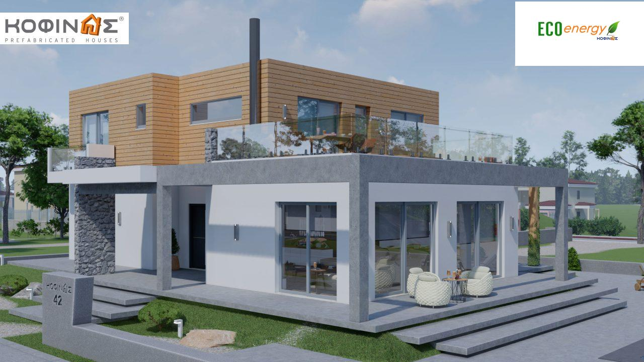 2-story house D-188, total surface of 188,66 m² ,roofed areas 38.20 m²,balconies 40.05 m²1