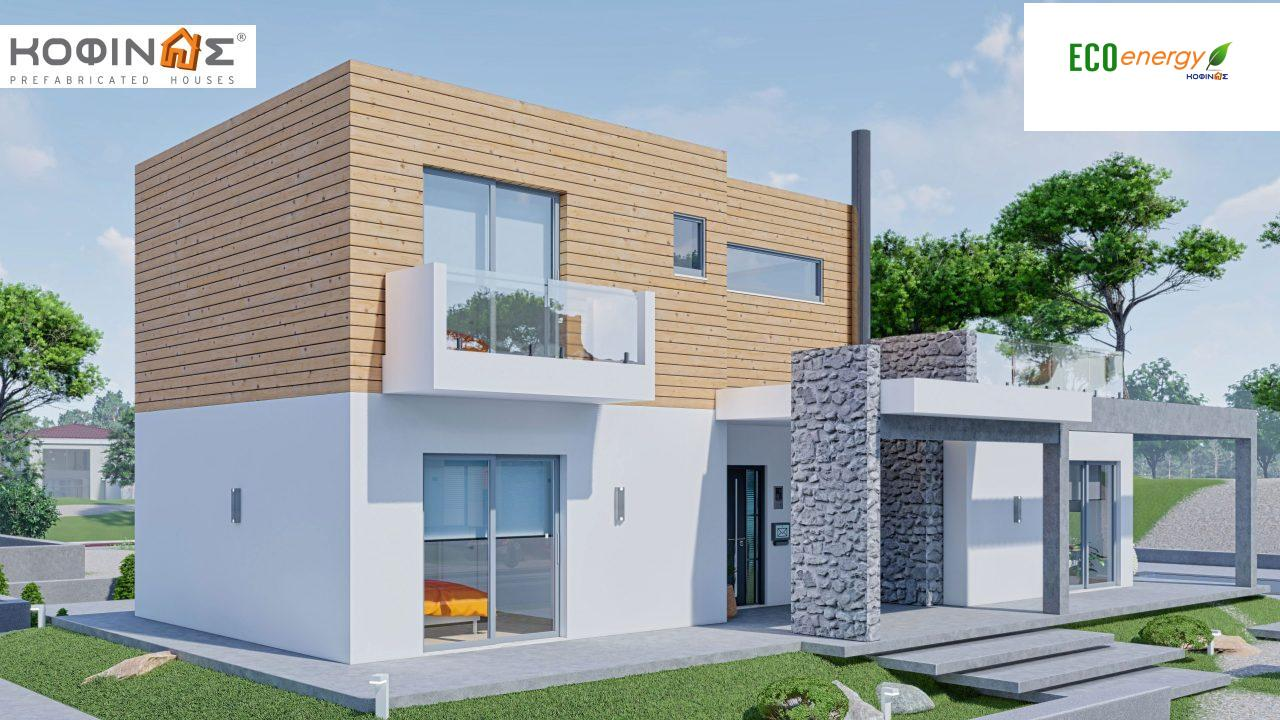 2-story house D-188, total surface of 188,66 m² ,roofed areas 38.20 m²,balconies 40.05 m²4