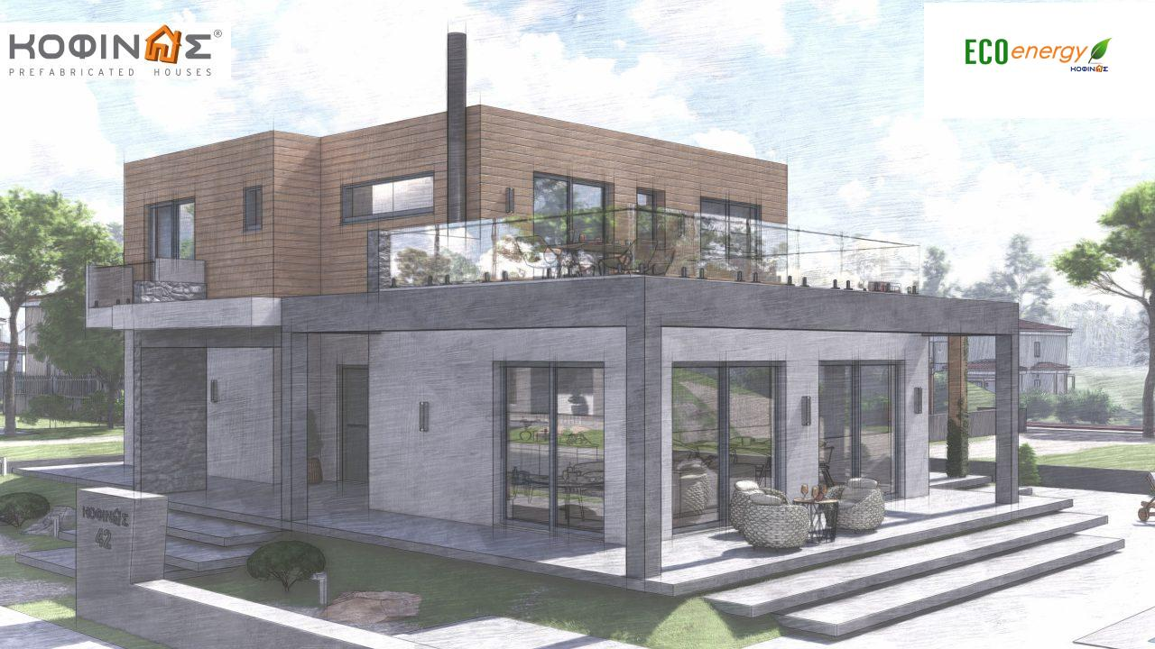 2-story house D-188, total surface of 188,66 m² ,roofed areas 38.20 m²,balconies 40.05 m²6