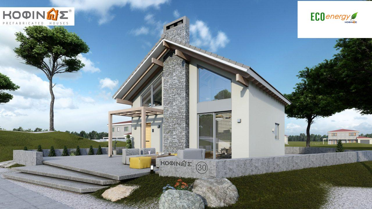 1-story house with attic IS-115, total surface of 115,18 m² ,roofed areas 17,85 m² featured image