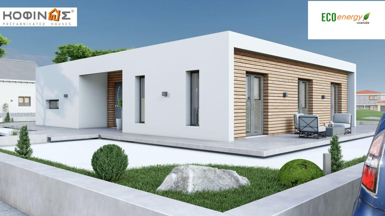 1-story house I-113, total surface of 113,24 m² ,roofed areas 19,18 m²2