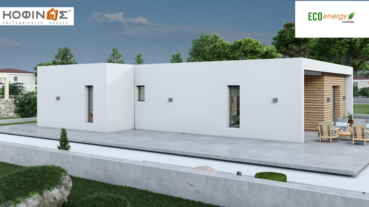 1-story house I-113, total surface of 113,24 m² ,roofed areas 19,18 m²3