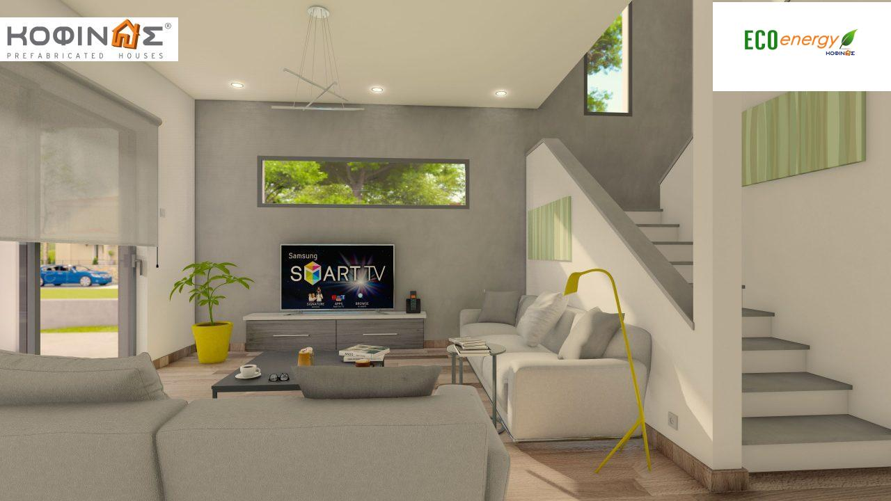 2-story house D-134, total surface of  134,26 m², roofed areas 31,28 m², balconies13,56 m²7