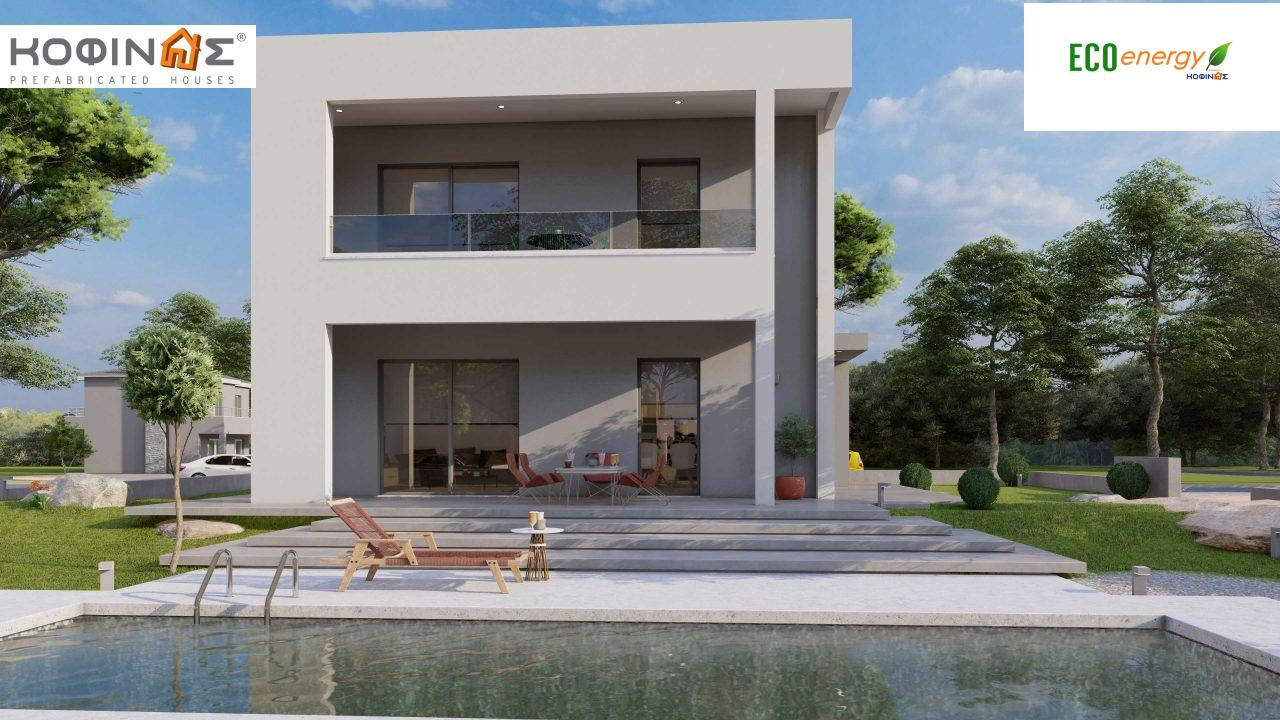 2-story house D-134, total surface of  134,26 m², roofed areas 31,28 m², balconies13,56 m²0