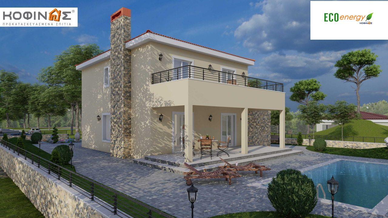 Διώροφη Κατοικία D-179, συνολικής επιφάνειας  179.38 τ.μ., +Γκαράζ 19.42 τ.μ. (=198.80 m²), συνολική επιφάνεια στεγασμένων χώρων 30.90 τ.μ., μπαλκόνια 23.51 m²8
