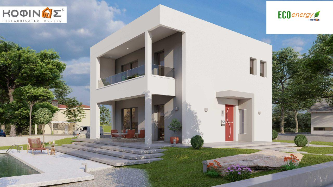 2-story house D-134, total surface of  134,26 m², roofed areas 31,28 m², balconies13,56 m² featured image
