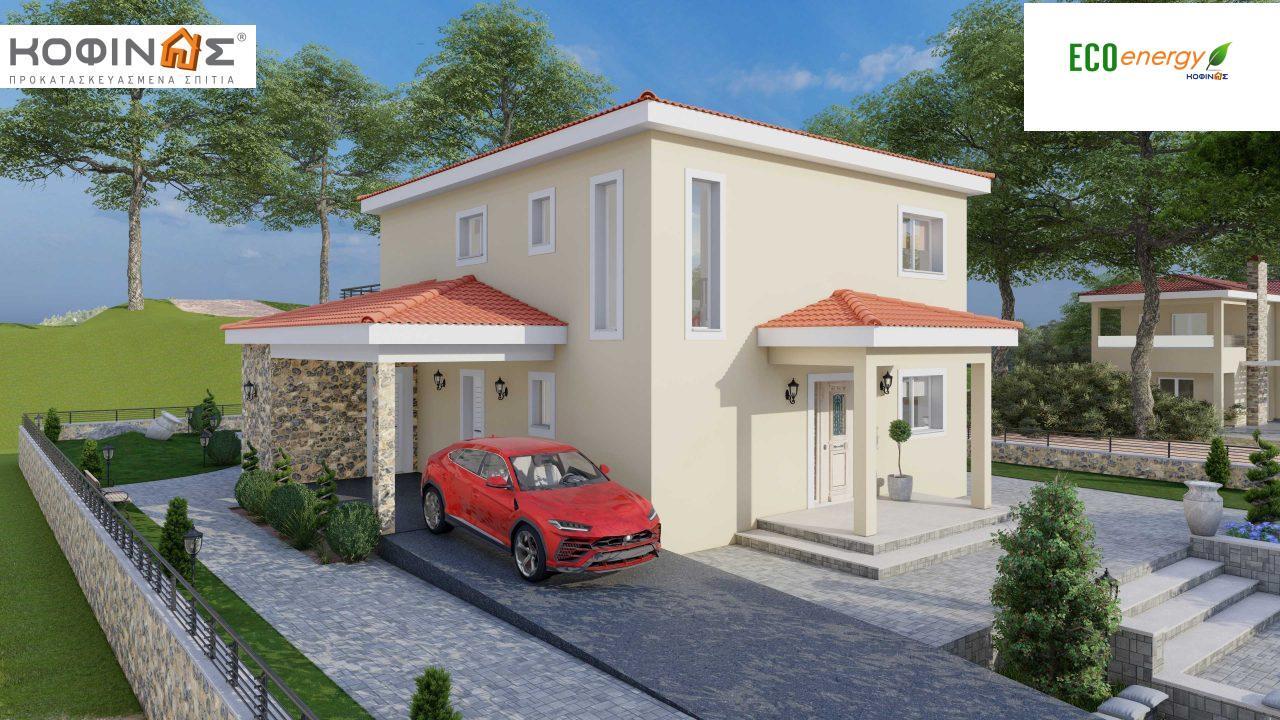 Διώροφη Κατοικία D-179, συνολικής επιφάνειας  179.38 τ.μ., +Γκαράζ 19.42 τ.μ. (=198.80 m²), συνολική επιφάνεια στεγασμένων χώρων 30.90 τ.μ., μπαλκόνια 23.51 m²1