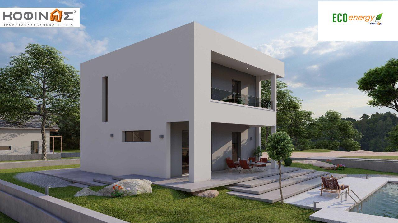 Διώροφη Κατοικία D-134, συνολικής επιφάνειας 134,26 τ.μ., συνολική επιφάνεια στεγασμένων χώρων 31,28 τ.μ., μπαλκόνια 13,56 τ.μ.1