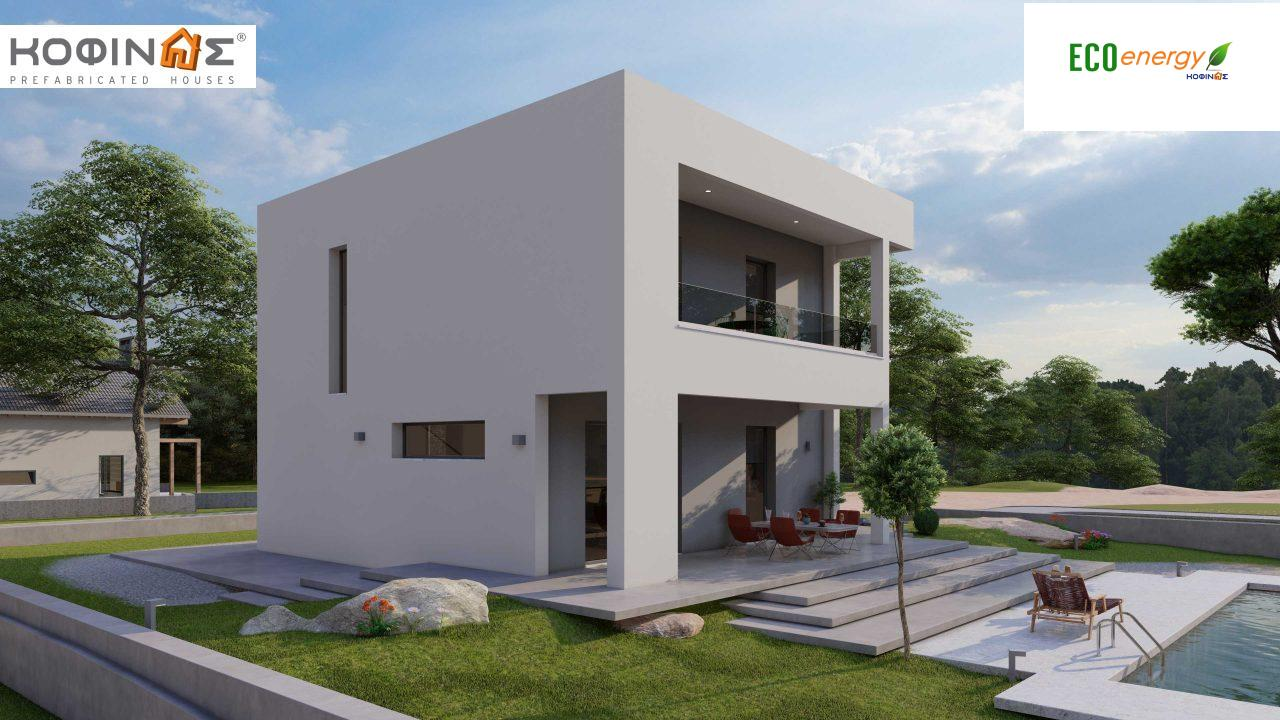 2-story house D-134, total surface of  134,26 m², roofed areas 31,28 m², balconies13,56 m²1