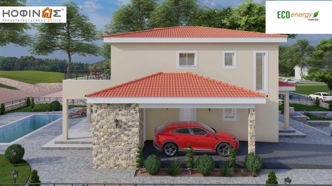Διώροφη Κατοικία D-179, συνολικής επιφάνειας  179.38 τ.μ., +Γκαράζ 19.42 τ.μ. (=198.80 m²), συνολική επιφάνεια στεγασμένων χώρων 30.90 τ.μ., μπαλκόνια 23.51 m²2