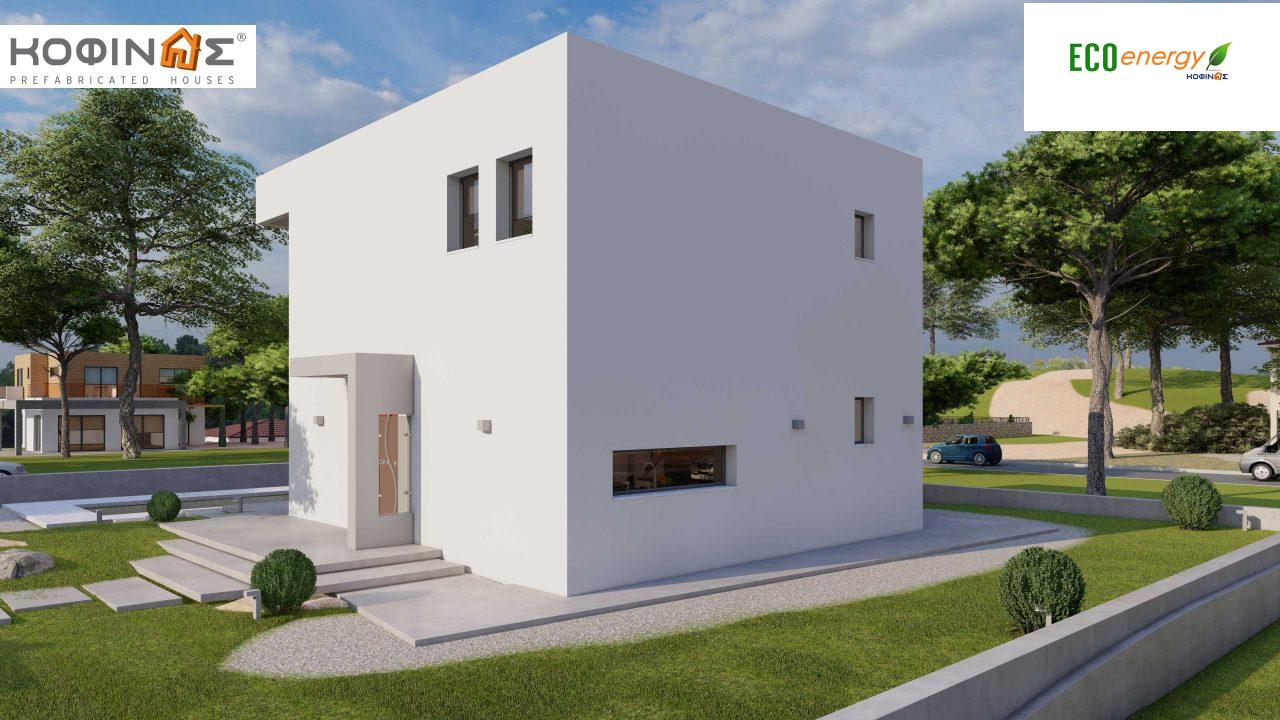 2-story house D-134, total surface of  134,26 m², roofed areas 31,28 m², balconies13,56 m²2