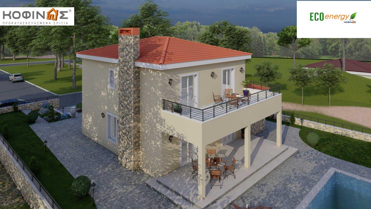 Διώροφη Κατοικία D-179, συνολικής επιφάνειας  179.38 τ.μ., +Γκαράζ 19.42 τ.μ. (=198.80 m²), συνολική επιφάνεια στεγασμένων χώρων 30.90 τ.μ., μπαλκόνια 23.51 m²4