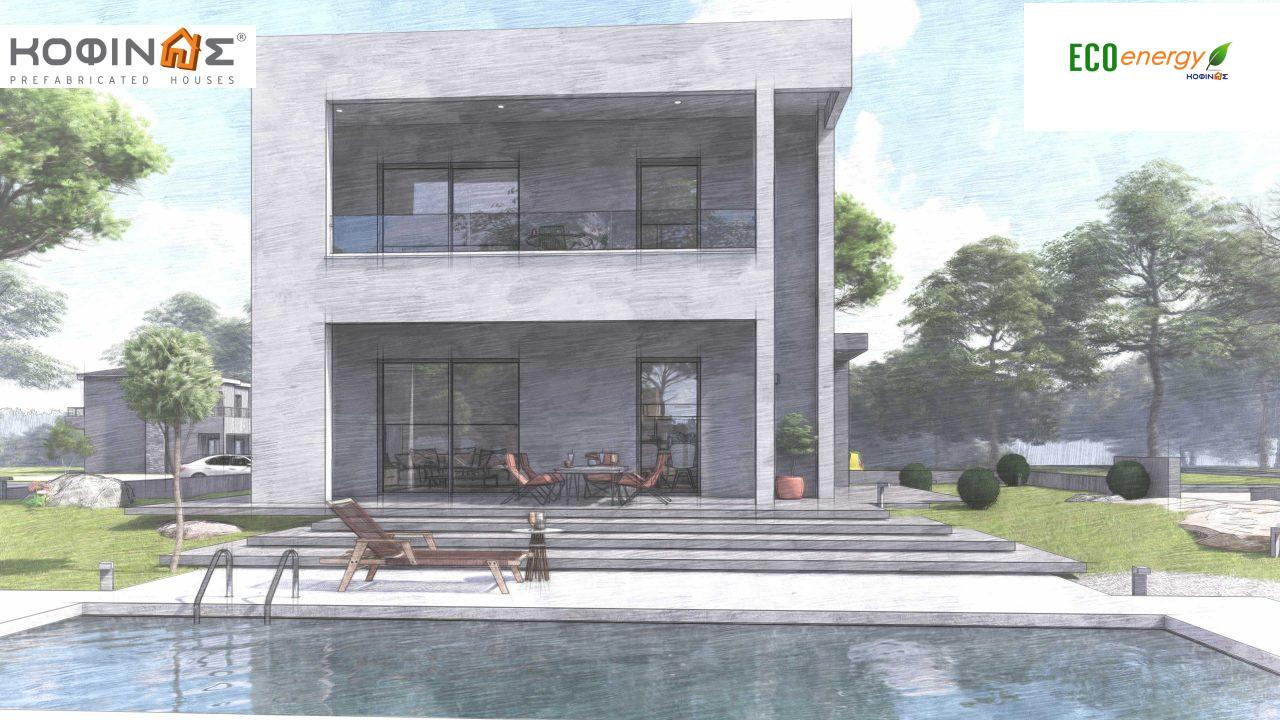 2-story house D-134, total surface of  134,26 m², roofed areas 31,28 m², balconies13,56 m²4