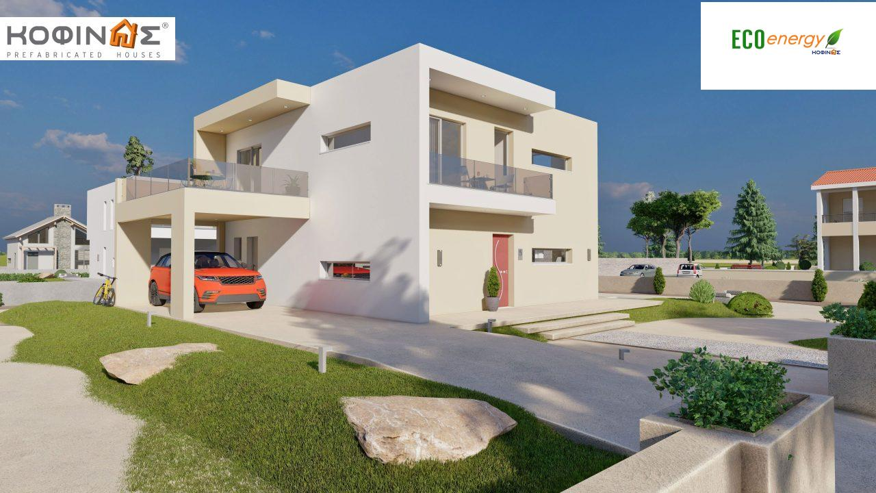 2-story house D-164, total surface of 164.94 m² ,+Garage 20.82 m²(=185.76 m²), roofed areas 32.38 m²,balconies 32.27 m²0