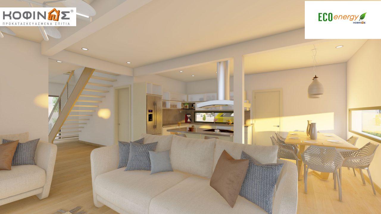 Διώροφη Κατοικία D-200, συνολικής επιφάνειας 200.08 τ.μ. ,+Γκαράζ 20.82 m²(=220.90 m²) συνολική επιφάνεια στεγασμένων χώρων 34.40 τ.μ., μπαλκόνια 32.27 τ.μ.8