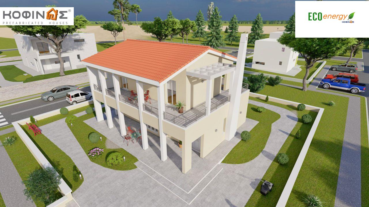 2-story house D-131a, total surface of 131.23 m² (Version A) and 142.65 m² (Version B) ,roofed areas 63.69 m²,balconies 54.11 m²(Version A) and 42.68 m²(Version B)0