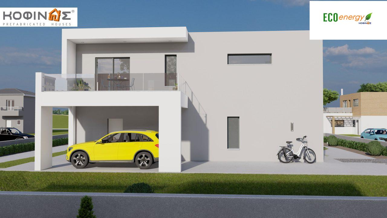 2-story house D-200, total surface of 200,08 m²,+Garage 20.82 m²(=220.90 m²),roofed areas 34.40 m²,balconies 32.27 m²1